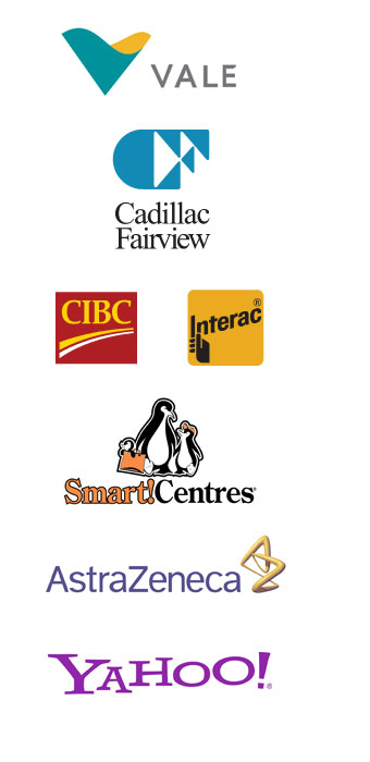 RainMaker Satisfied Clients inlcude Vale, CIBC, Yahoo