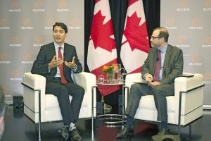 Prime Minister Justin Trudeau sat down with Stephen Adler, President and Editor-in-Chief, Reuters after the announcement of a new technology centre for Toronto.